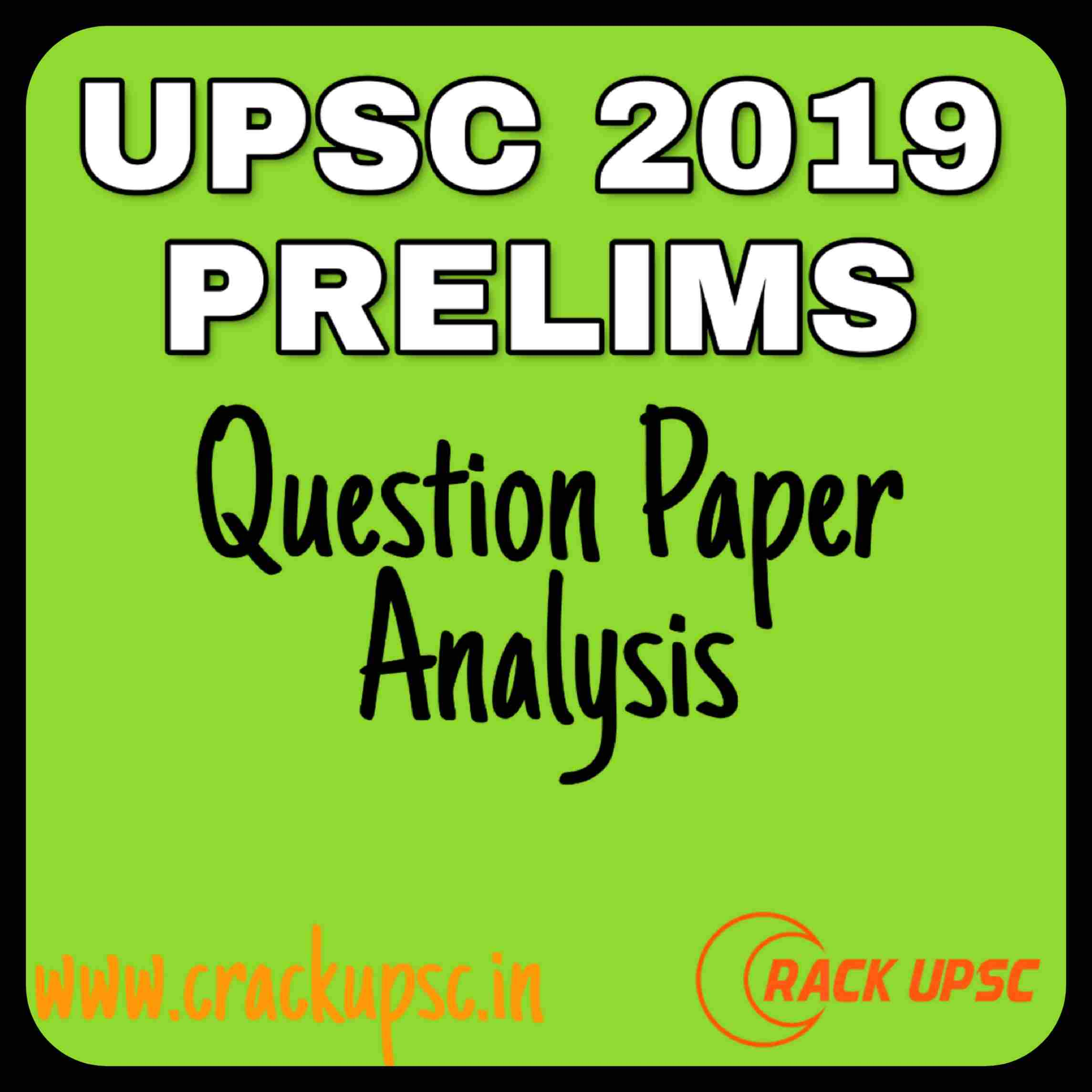 UPSC-2019-Prelims-Question-Paper-Analysis