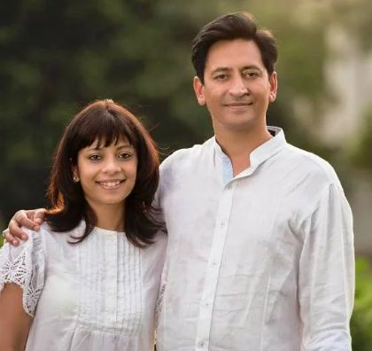 IAS Deepak rawat with his wife vijeta singh enjoying