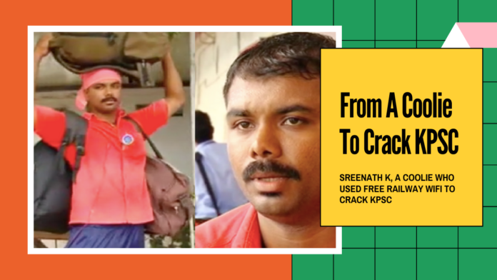 Meet Sreenath K, A Coolie Who CrackedKerala Civil Services Examination